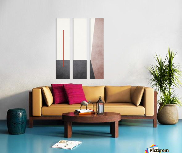 Textured Shapes 04 - Abstract Geometric Art Print Split Canvas print