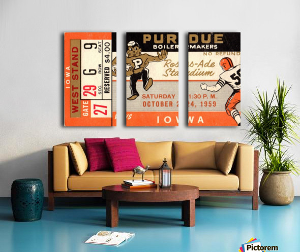 1959 Purdue vs. Iowa Split Canvas print