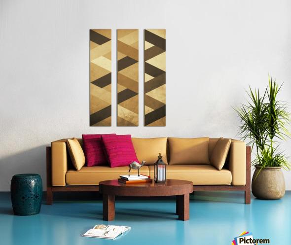 Textured Shapes 07 - Abstract Geometric Art Print Split Canvas print