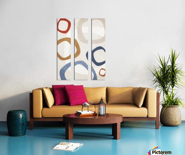 Textured Shapes 08 - Abstract Geometric Art Print Split Canvas print