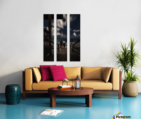 Midnight Love  1 Split Canvas print