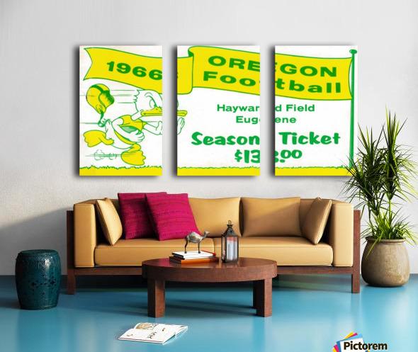 1966 Oregon Duck Season Ticket Split Canvas print