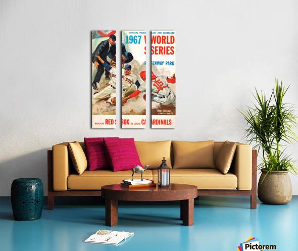 1967 World Series Program Cover Art Fenway Park Split Canvas print