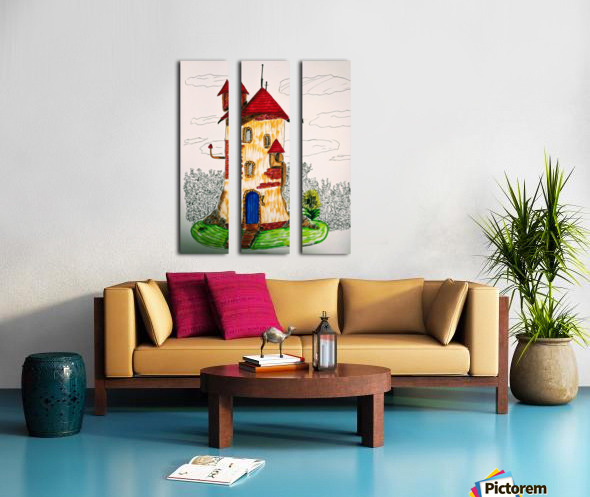 Wizard Tower Split Canvas print