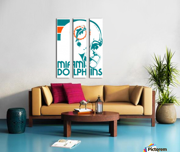 National Football League_Retro Miami Dolphins 1970s Art Reproduction Split Canvas print