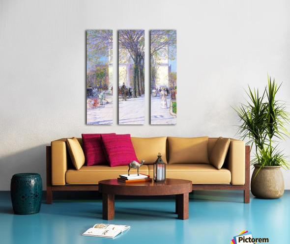 Washington triumphal arch in spring by Hassam Split Canvas print