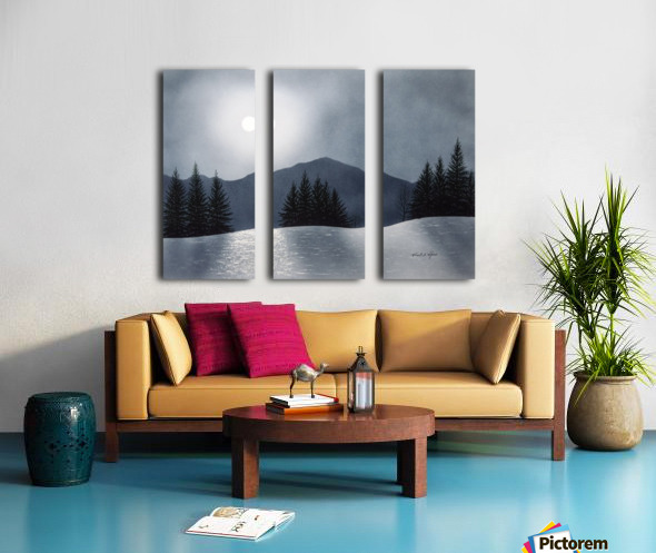 Mountain Moon Split Canvas print