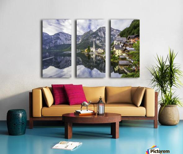 Hallstatt Sunrise Split Canvas print