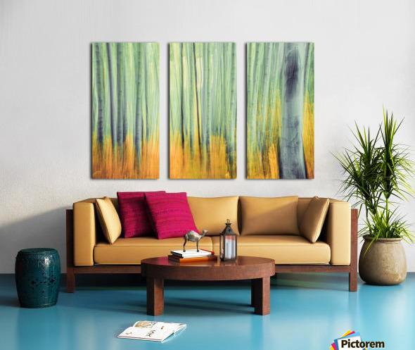 Aspen Trees in movement Split Canvas print