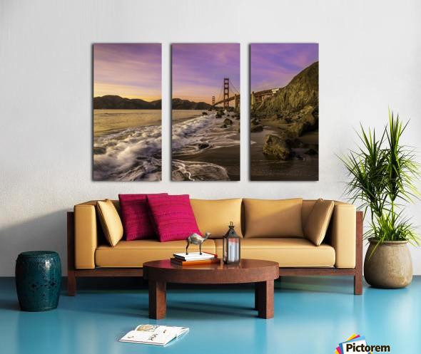 Golden Gate Sunset Split Canvas print