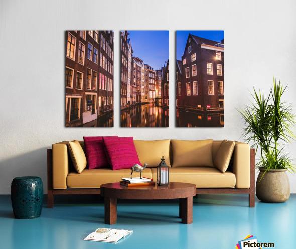 Amsterdam Lights Split Canvas print