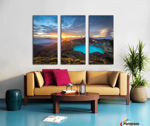 Indonesian Volcano Split Canvas print
