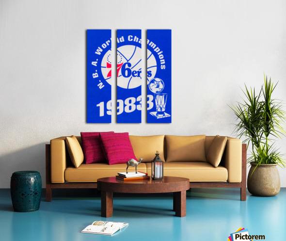 1983 NBA World Champions Philadelphia 76ers Art Reproduction 1 Split Canvas print