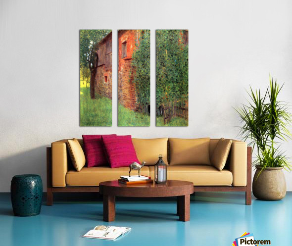 Farmhouse in Chamber in Attersee by Klimt Split Canvas print