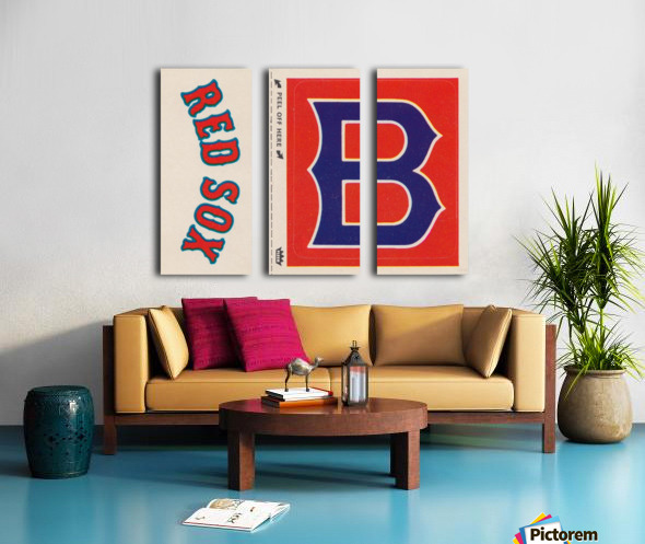 1978 Boston Red Sox Fleer Decal Reproduction 1200 DPI Scan Art by Row One™ Split Canvas print
