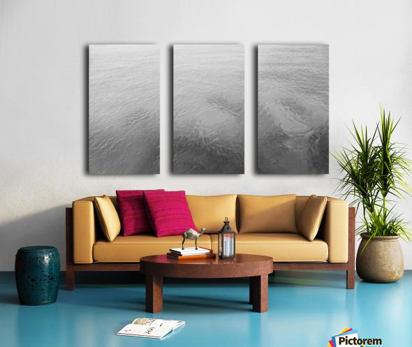 Open Waters B&W Split Canvas print