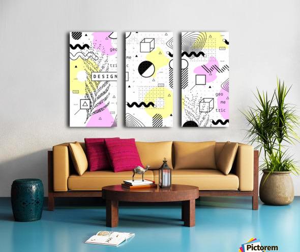 graphic design geometric background Split Canvas print