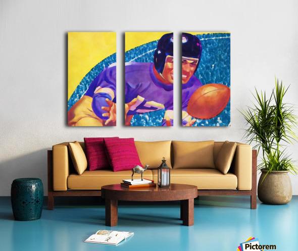 Football Art Watercolor Sports Art Split Canvas print