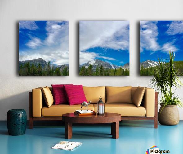 Rocky Mountain Range Split Canvas print