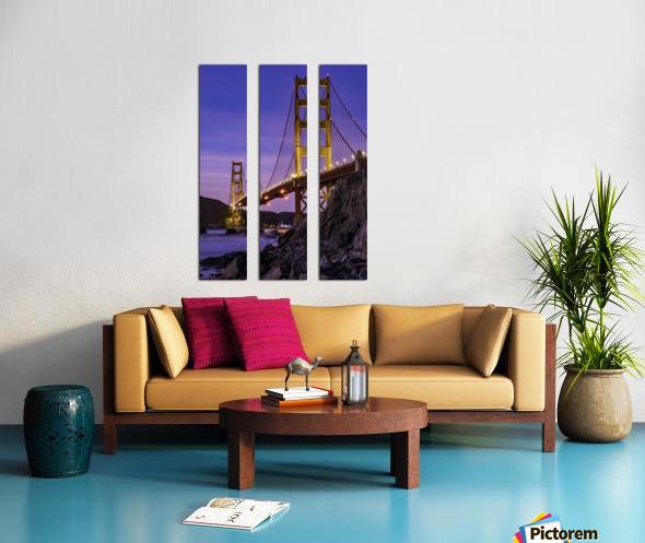Golden Gate Blue Hour Split Canvas print