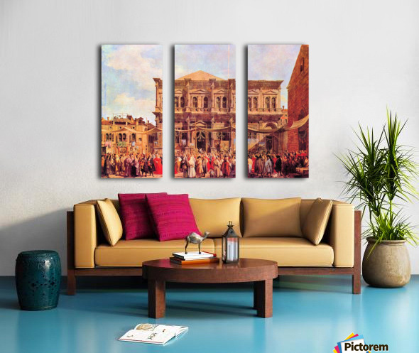 Festival in San Rocco by Canaletto Split Canvas print