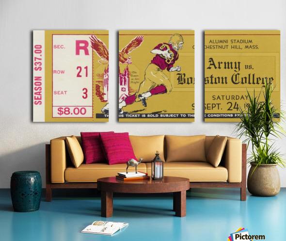 1977 Boston College vs. Army Split Canvas print