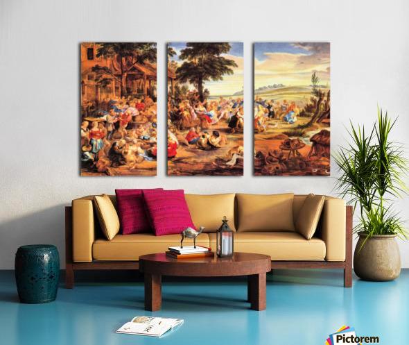 Flemish Kirmes by Rubens Split Canvas print