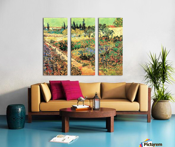 Flowering Garden with Path by Van Gogh Split Canvas print