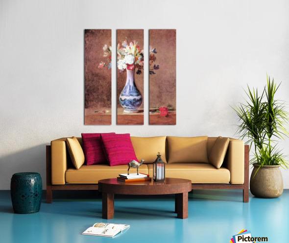 Flowers in a Vase by Jean Chardin Split Canvas print