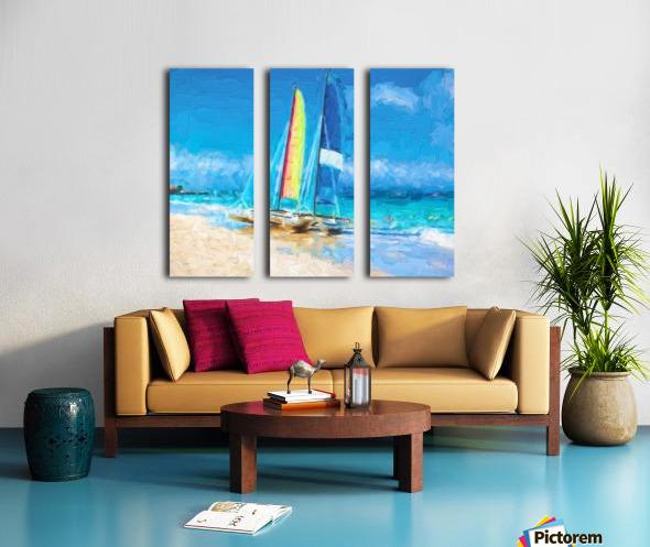 Sailing Split Canvas print