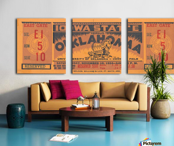 1934 Iowa State vs. Oklahoma Split Canvas print
