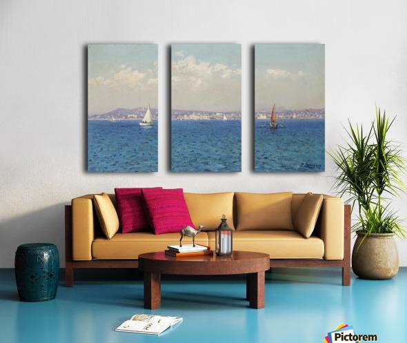 Franzasische Riviera Split Canvas print