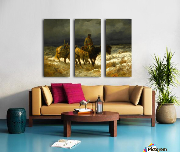 Horseman Split Canvas print