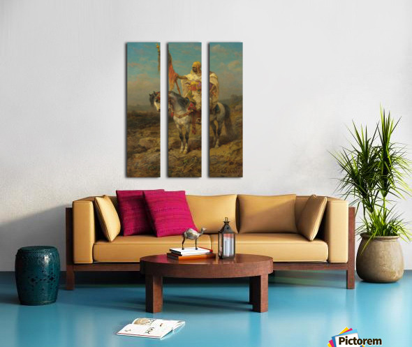 Arab rider Split Canvas print