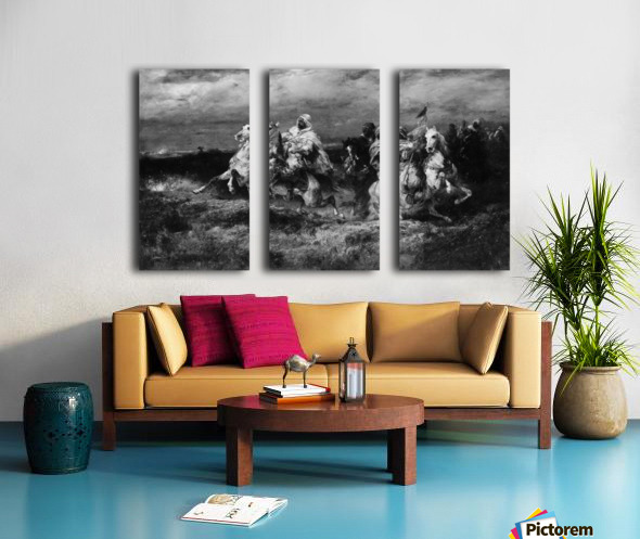 Arab riders Split Canvas print