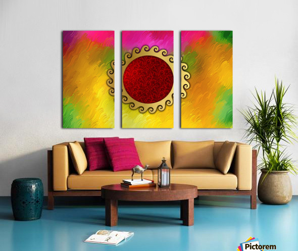 Signs of power and protection amulets sun Split Canvas print