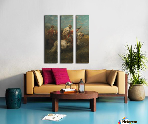 Arabs riding horses Split Canvas print