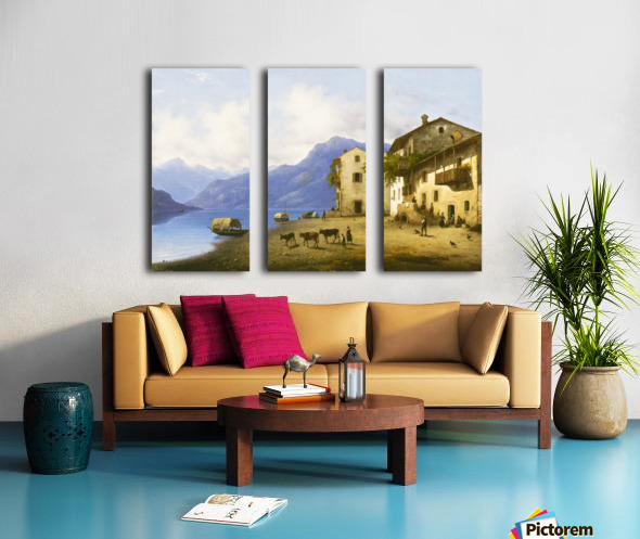 Landscape near Lake Como Split Canvas print
