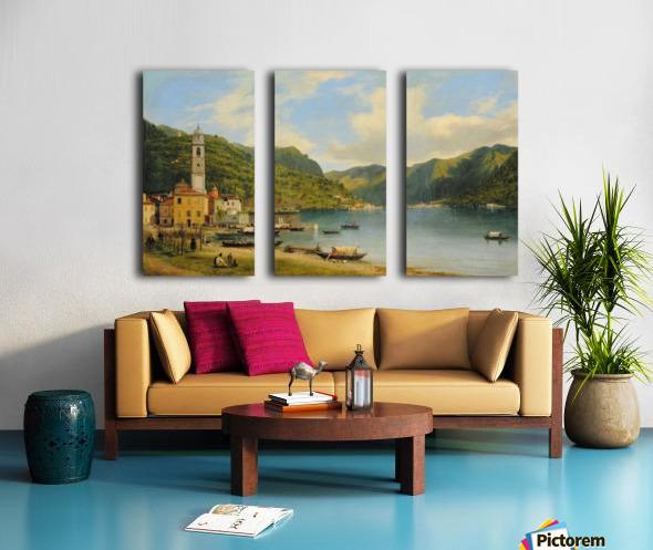 Lake Como Split Canvas print