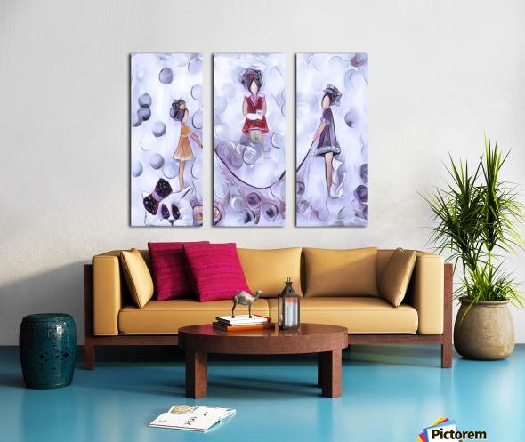 3 petits chats no4 Split Canvas print
