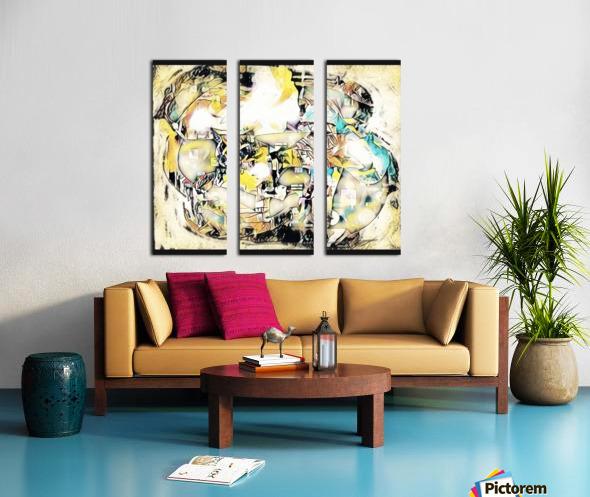 Mosaic Labyrinth Split Canvas print