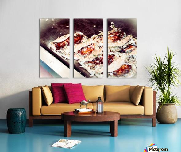 Street Okonomiyaki Split Canvas print