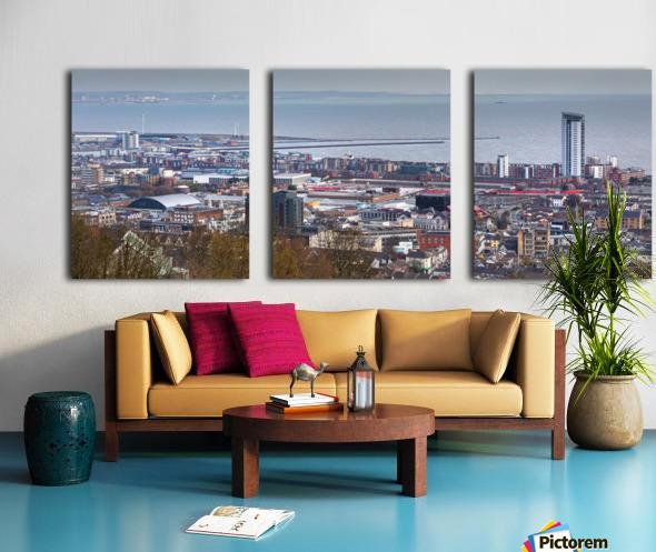 Swansea city South Wales UK Split Canvas print