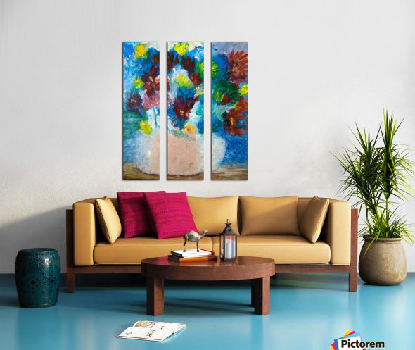 Spring Flowers  Split Canvas print