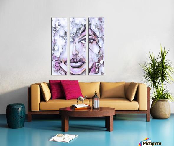 Disco Split Canvas print