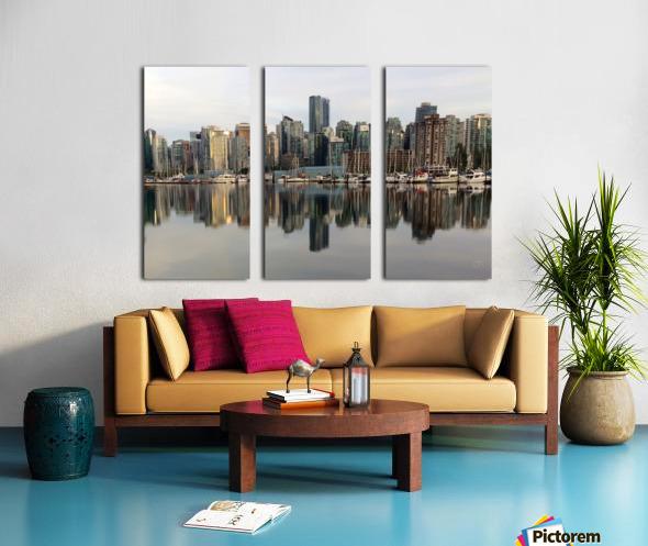 Downtown Reflection Split Canvas print