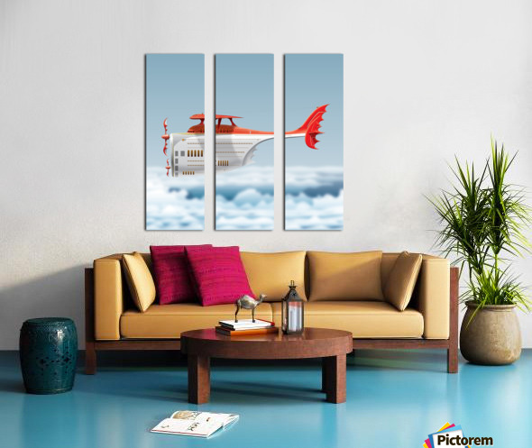 Avione Martellino Split Canvas print