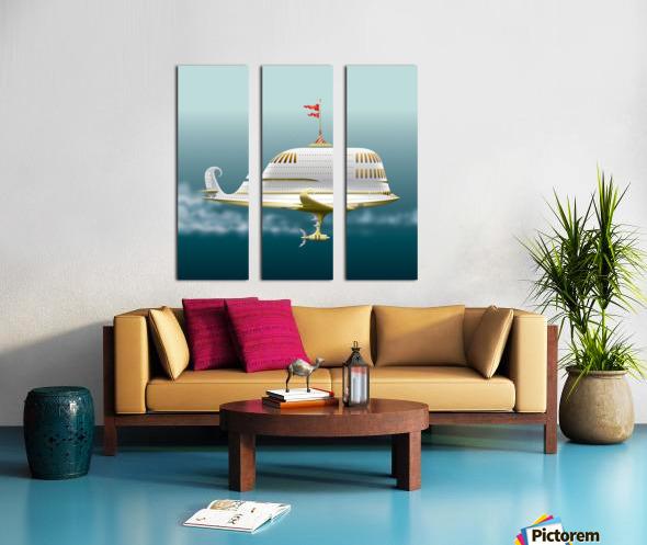 Imbarcazione Volante Dommo Split Canvas print