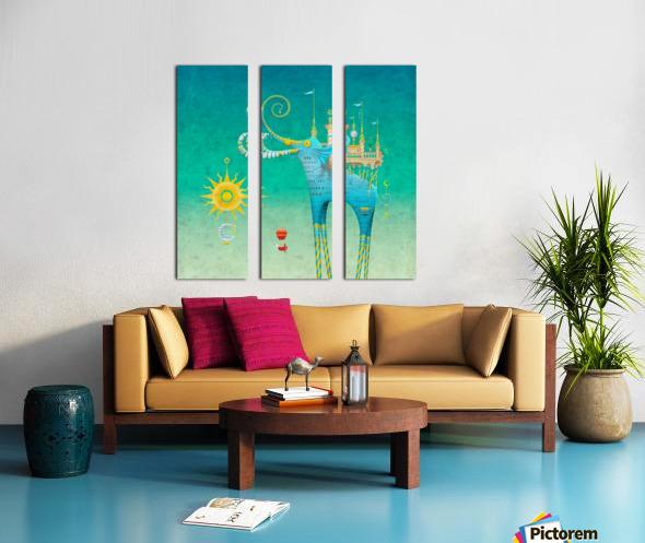 Castellini Elephantini Azure Split Canvas print