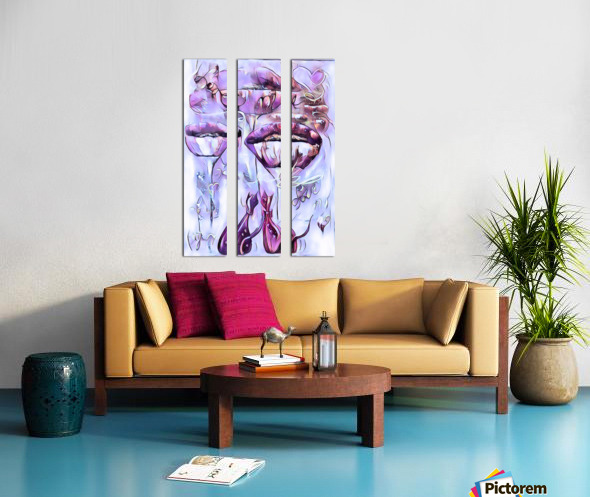 Love me Split Canvas print